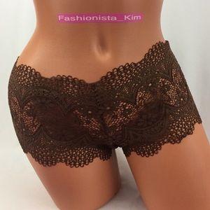 ✅🆕😍 Victoria's Secret Brown lace shortie panty